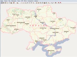 Подробная GPS карта Украины - Визиком